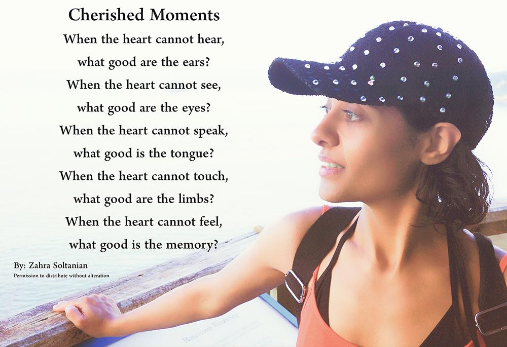 Cherished Moments Poem by Zahra Soltanian