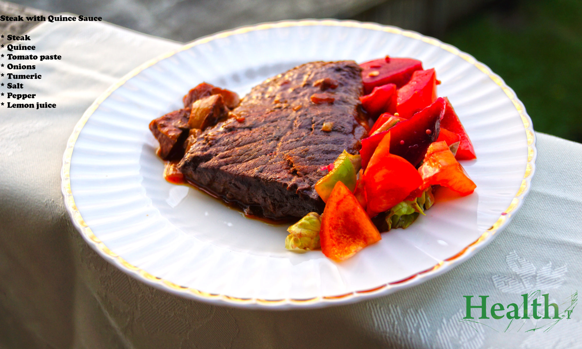 Steak with Quince Sauce Ingredients