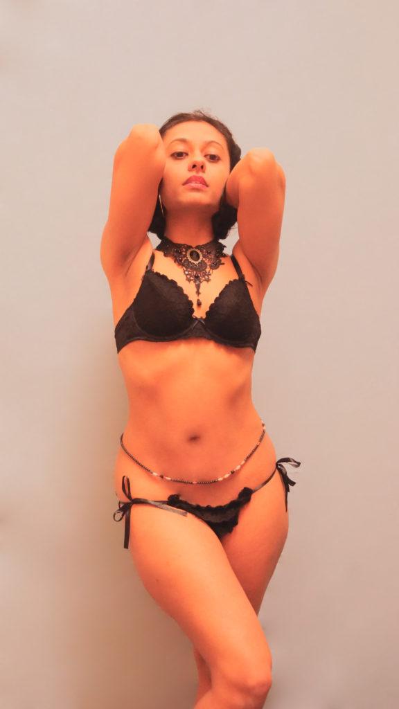 Zahra Soltanian (Wyld Yasmin) in lingerie
