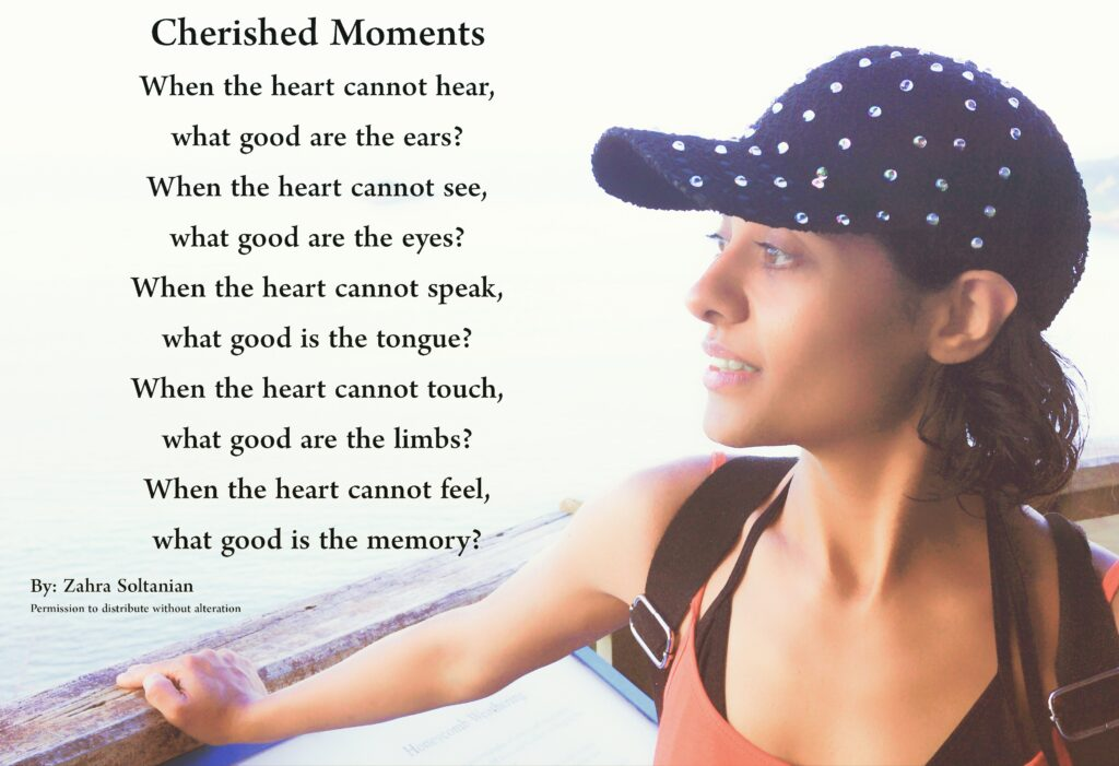 Poem Cherished Moments By Zahra Soltanian